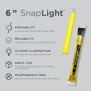 "6"" SnapLight (15cm) lightsticks (Cyalume® Branded)"