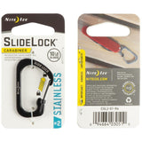 Niteize Slidelock Carabiner Stainless Steel #2 (Black)