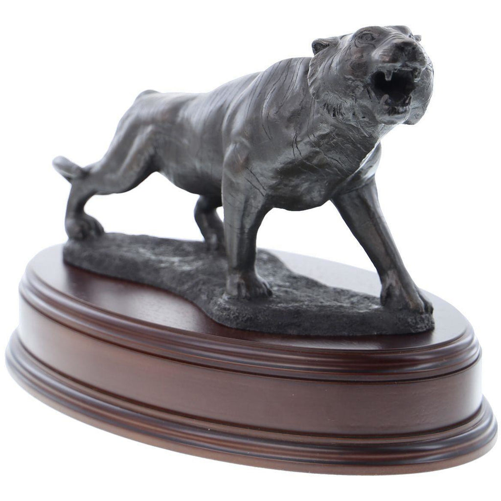 Male Tiger, Snarling Bronze Sculpture