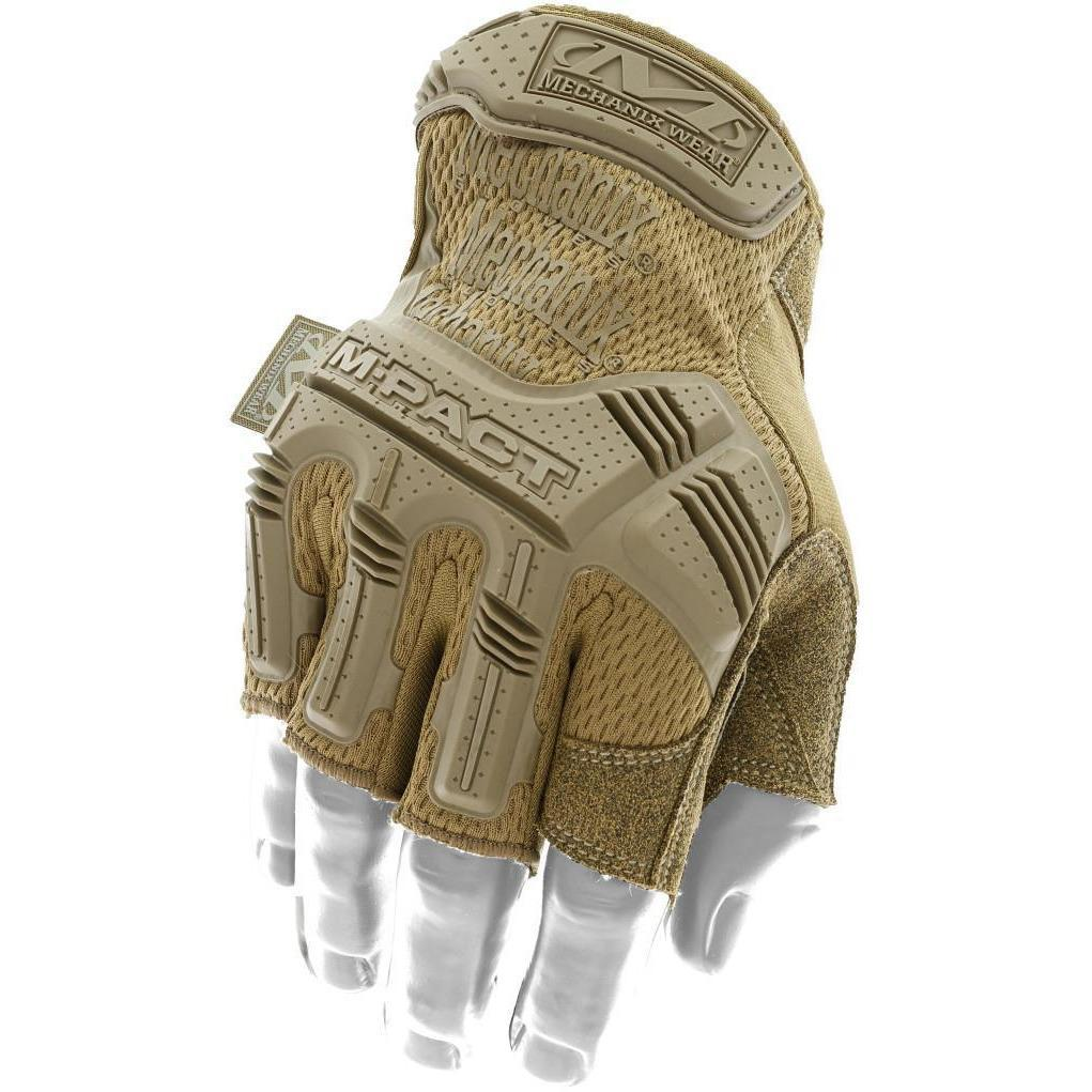 Mechanix Wear M-Pact Fingerless Coyote Gloves