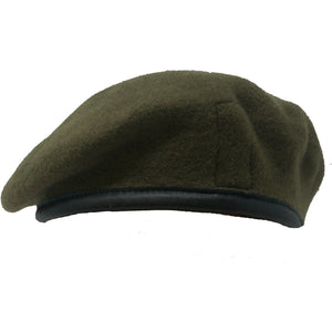 Tigers PWRR Khaki Beret - Blue Silk Lined