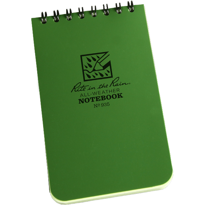 Rite in the Rain Pocket Notebook 3x5 Green