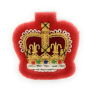 Mess Dress Crowns - S/Sgt - Gold on Scarlet Ground