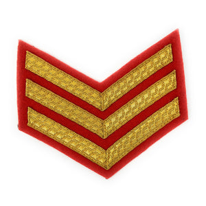 Mess Dress -Chevrons - Gold on Scarlet - Sgt