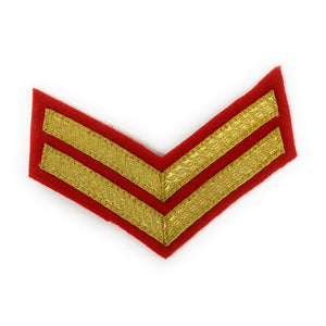 Mess Dress - Chevrons - Gold on Scarlet - Cpl