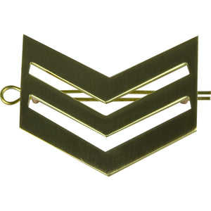 Sgt Brass Chevrons with Shanks