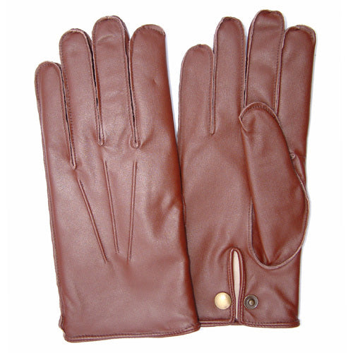 Mens Service Dress Glove Brown English Tan - Wool lined Dress Glove