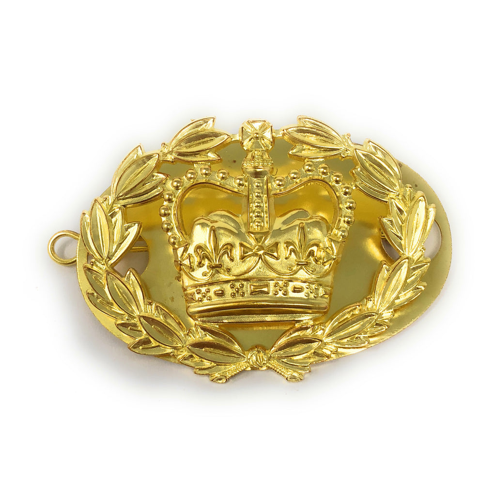 RQMS Brass Rank Badge  Back Plate & Shanks