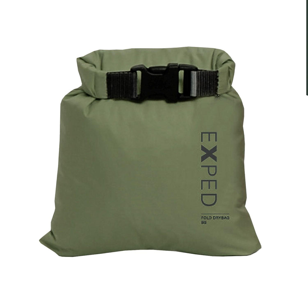 Exped 100% Waterproof Fold-Drybag - Olive - L - 13L