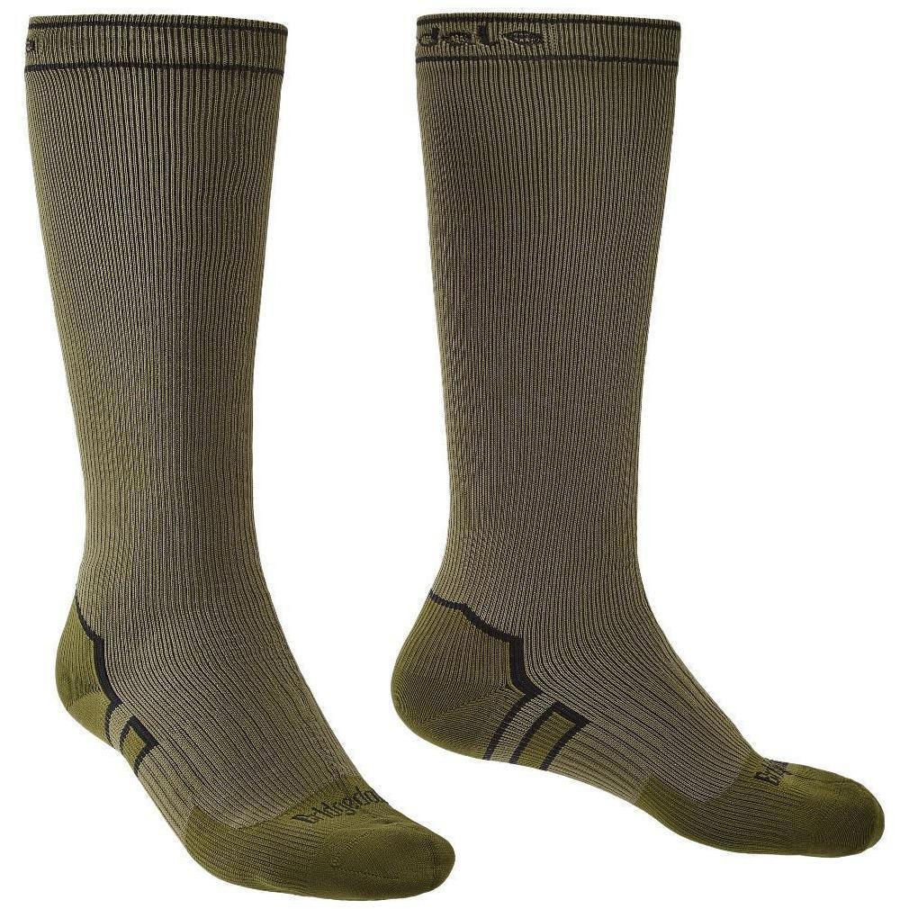 Bridgedale Waterproof Storm Sock Medium Weight Knee Khaki [product_type] Bridgedale - Military Direct