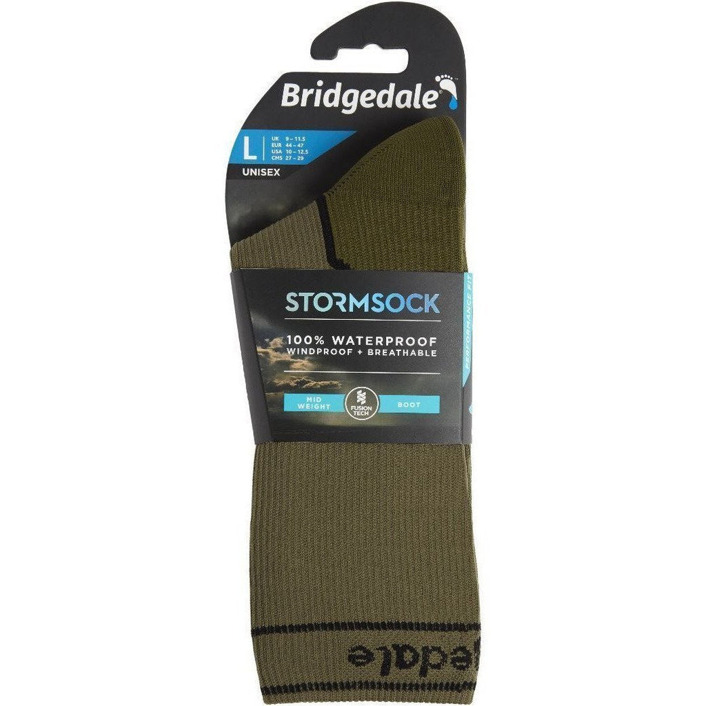 Bridgedale Waterproof Storm Sock Medium Weight Boot  Khaki [product_type] Bridgedale - Military Direct