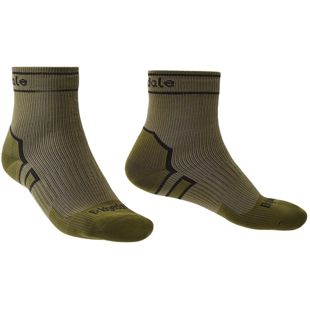 Bridgedale Waterproof Storm Sock Medium Weight Ankle Khaki [product_type] Bridgedale - Military Direct