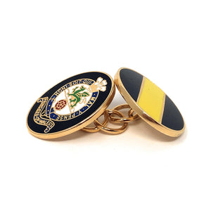 Cufflink - PWRR - Gilt Enamelled Chain-Link - Boxed