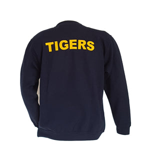 PWRR Navy Sweatshirt - Embroidered TIGER & Back Print TIGERS