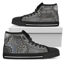 Load image into Gallery viewer, men armor Mercedes shoe black