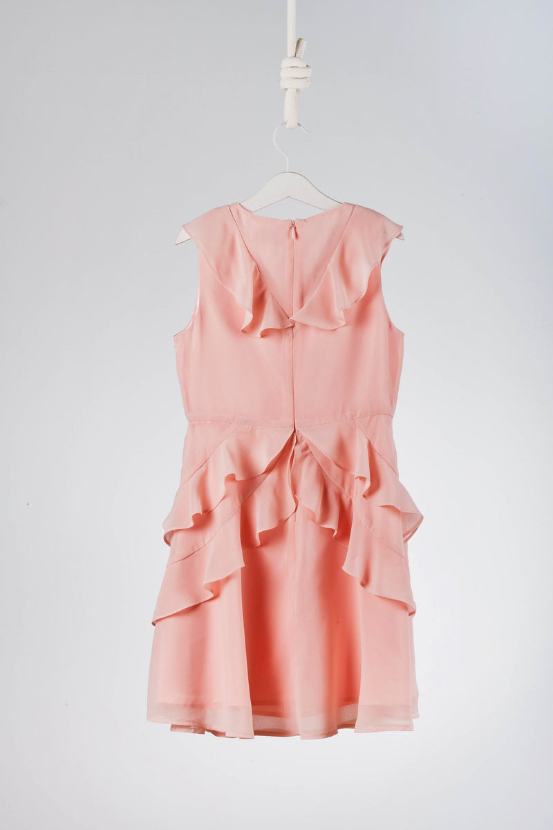 BCBG Max Azria Girls Asymmetrical Ruffle Dress
