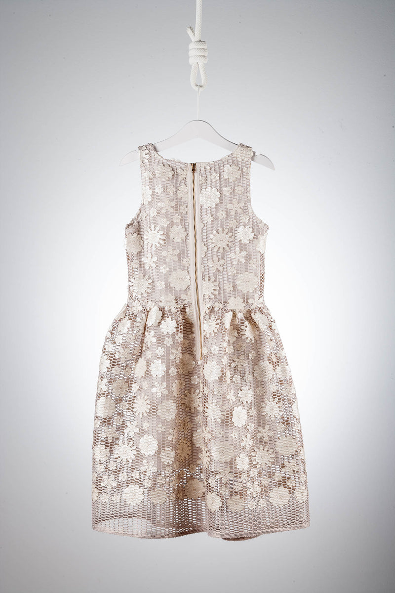 David Charles London Bronze and Ivory Flower Dress