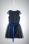 David Charles London Black and Blue Star Prom Dress
