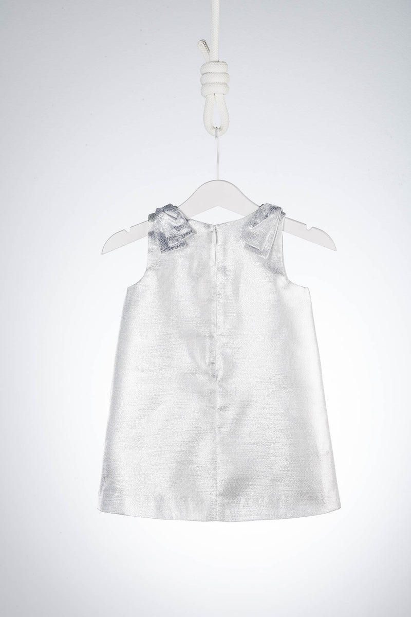 Hucklebones London Metallic Silver Dress