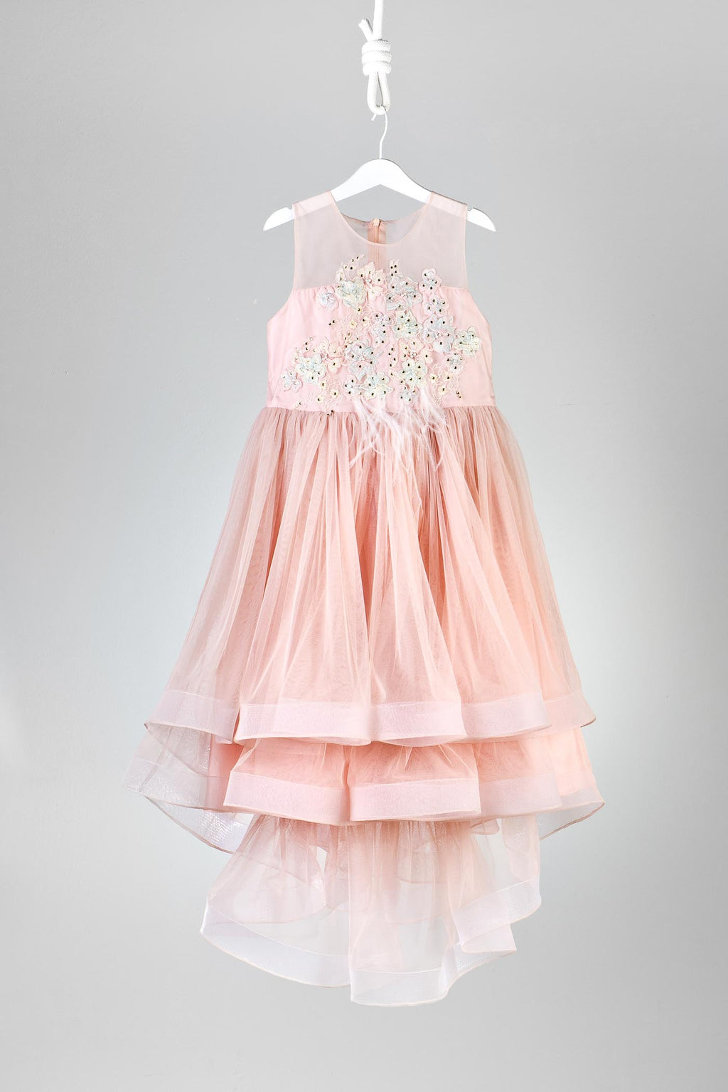 Little Miss Aoki Blush Tulle Dress