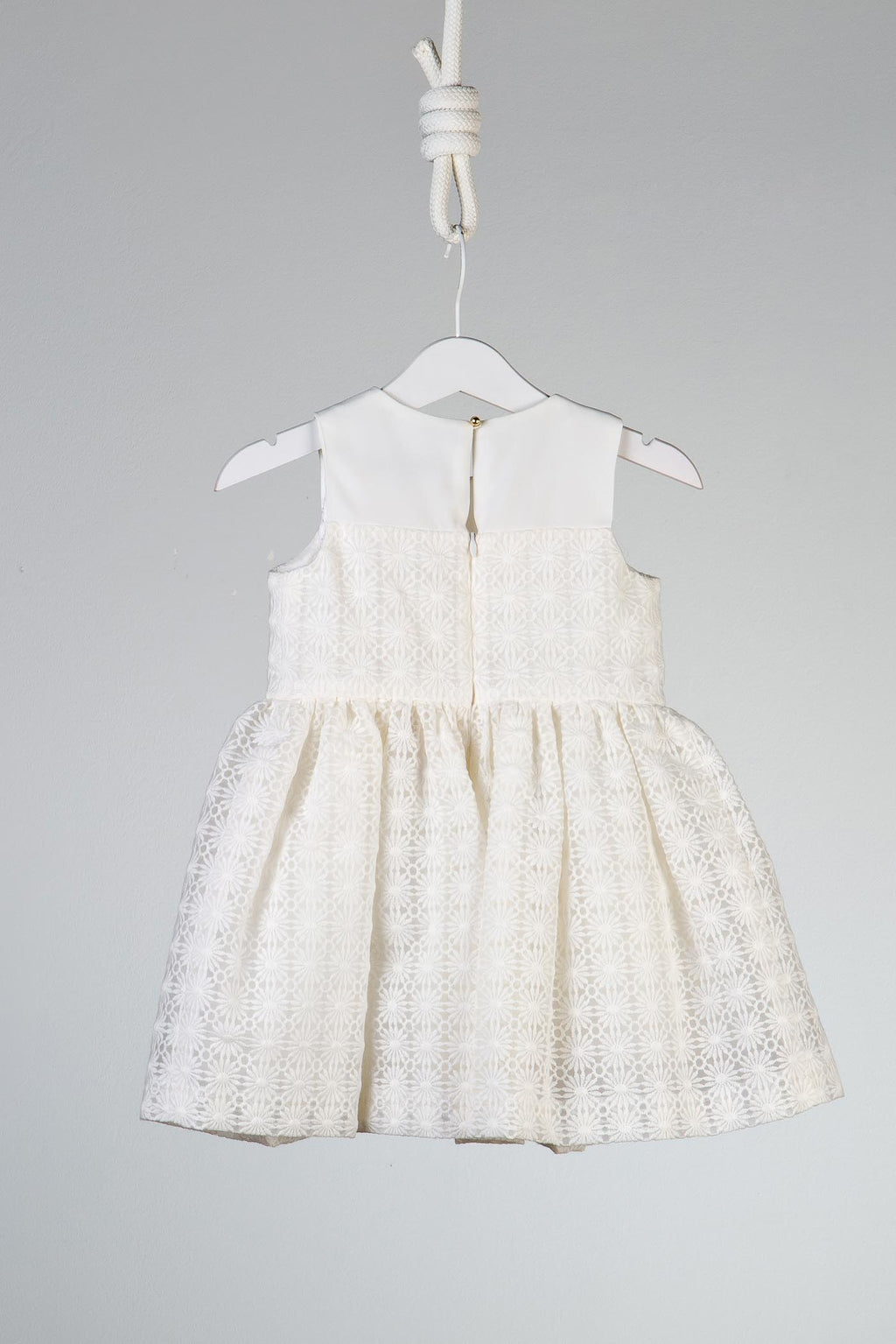 Hucklebones London Baby Girls Embroidered Daisy Bodice Dress