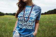 Load image into Gallery viewer, Retro America Burnout Tie Dye Tee