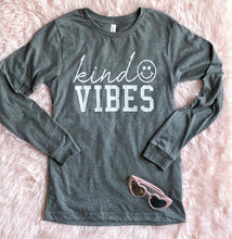 Load image into Gallery viewer, Kind Vibes (Deep Heather) Long Sleeve