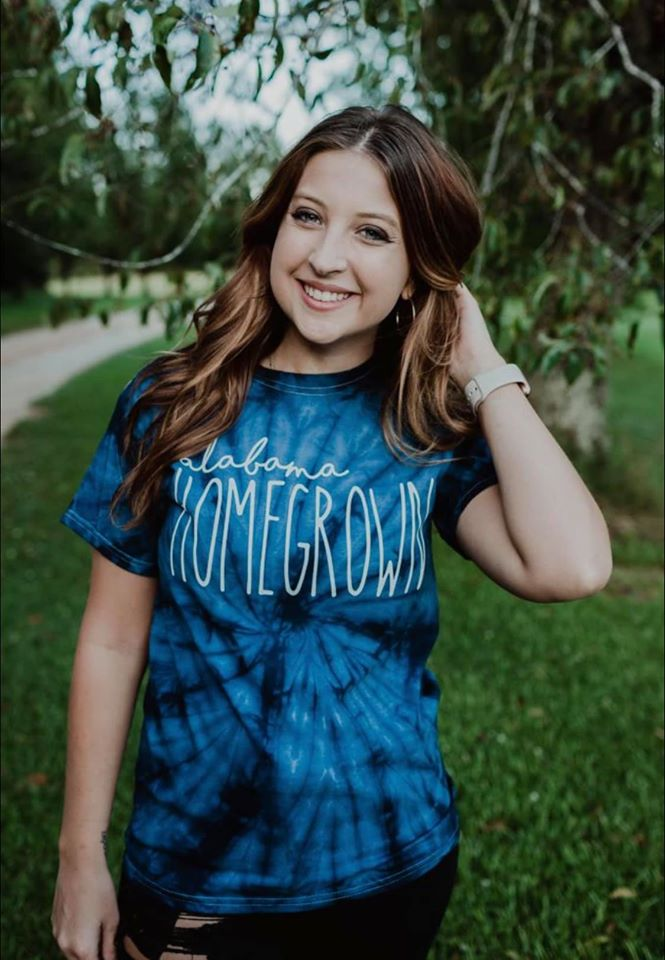 Alabama Homegrown Tie Dye Tee