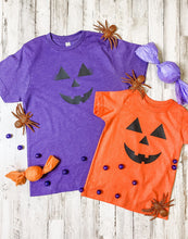 Load image into Gallery viewer, Girl Pumpkin Face KIDS Tee DROPSHIP