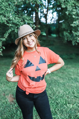 Pumpkin Face Adult Tee (Tultex)