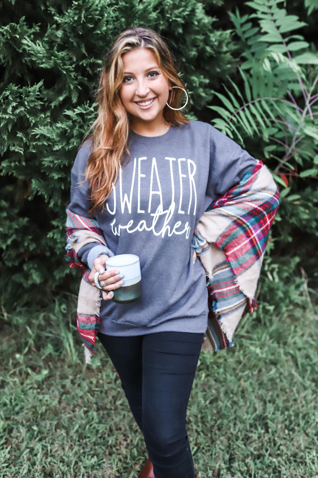 Sweater Weather Sweatshirt (Heather Charcoal) DROPSHIP