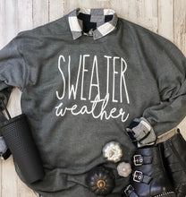Load image into Gallery viewer, Sweater Weather Sweatshirt (Heather Charcoal) DROPSHIP
