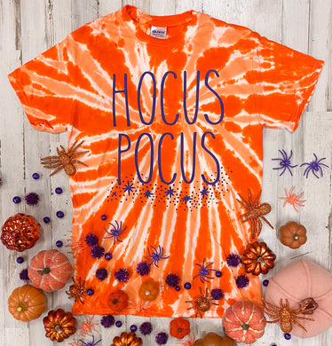 Hocus Pocus (Purple Ink) Orange Tie Dye