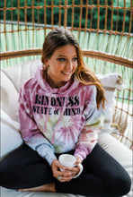 Load image into Gallery viewer, Kindness State of Mind Pastel Rainbow Tie Dye Hoodie