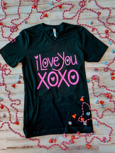 I Love You, XOXO (Black Tee)
