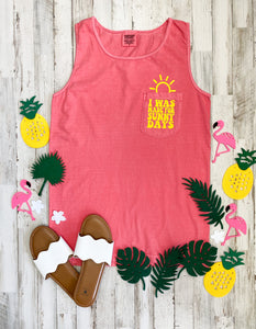 Sunny Days Comfort Colors Pocket Tank