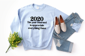 2020 The Year I Learned (Light Blue) Sweatshirt DROPSHIP