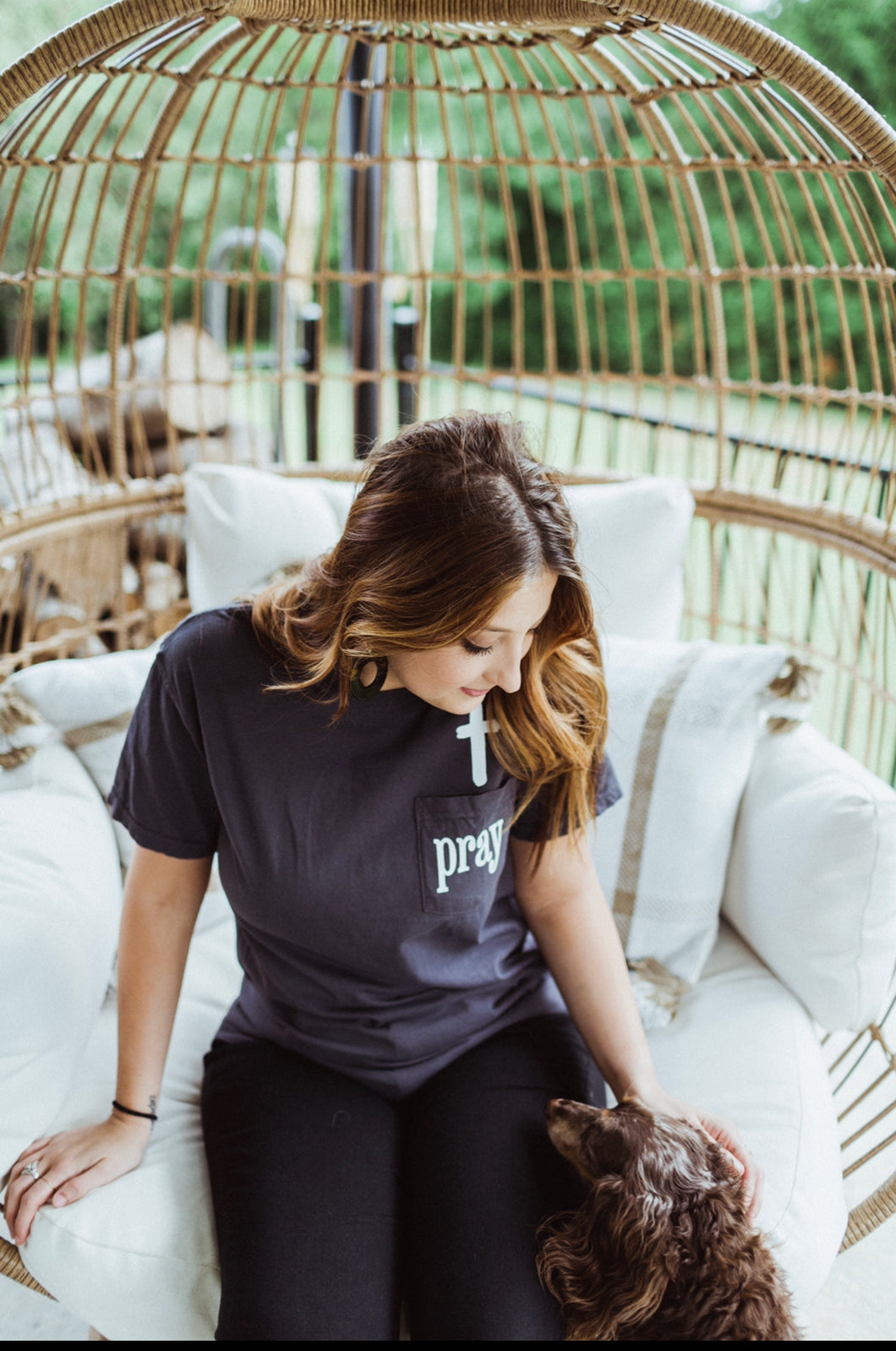 Pray (Graphite) Comfort Colors  Pocket Tee