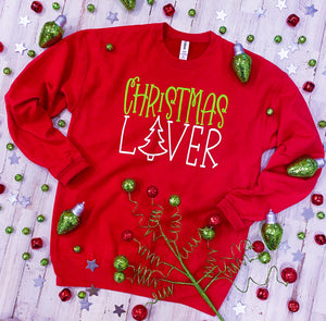 Christmas Lover (Cherry Red) Sweatshirt DROPSHIP