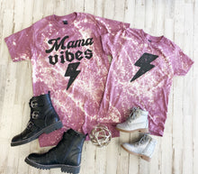 Load image into Gallery viewer, Mama Vibes Tee (Heather Cassis) DISTRESSED