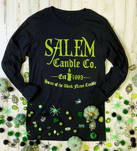 Load image into Gallery viewer, Salem Candle Co Foil Tee (Black Long Sleeve) DROPSHIP