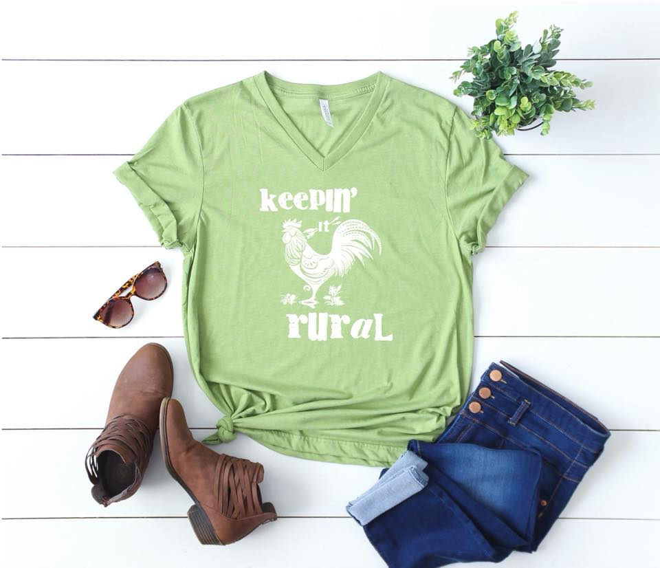 Rural (Heather Green V Neck)