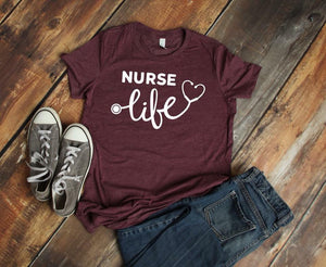 Nurse Life (Heather Maroon)