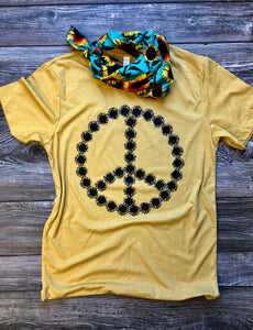 Sunflower Tee (Heather Mustard) DROPSHIP