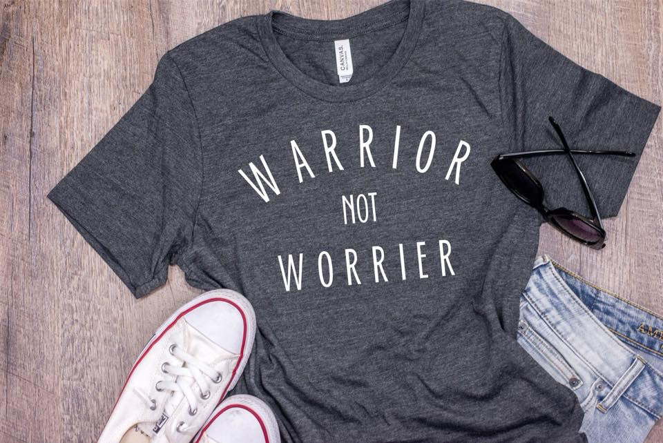 Warrior Not Worrier (Dark Grey Heather)