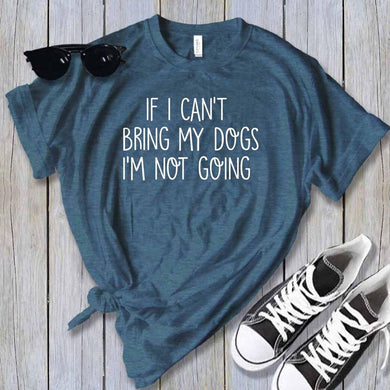 Can't Bring My Dogs (Heather Deep Teal)