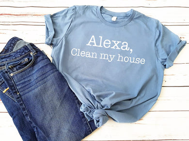 Alexa Clean My House (Steel Blue)
