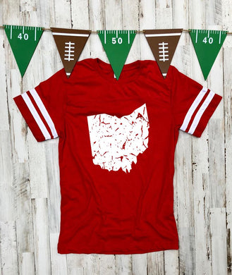 Ohio Red Jersey Tee