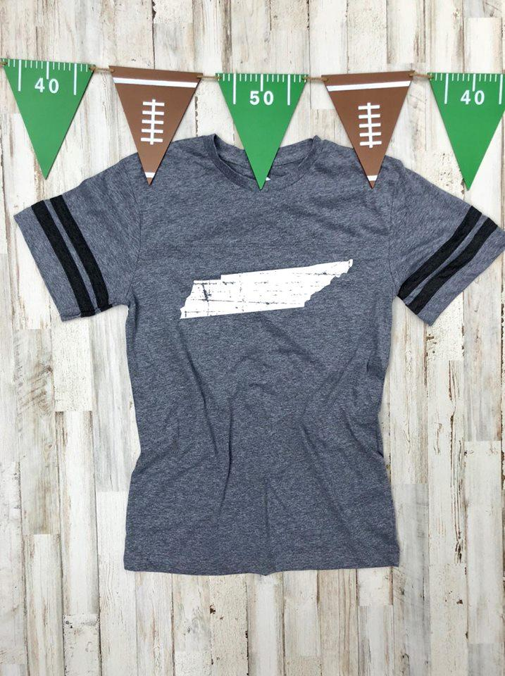 Tennessee Granite Grey Jersey Tee DROPSHIP