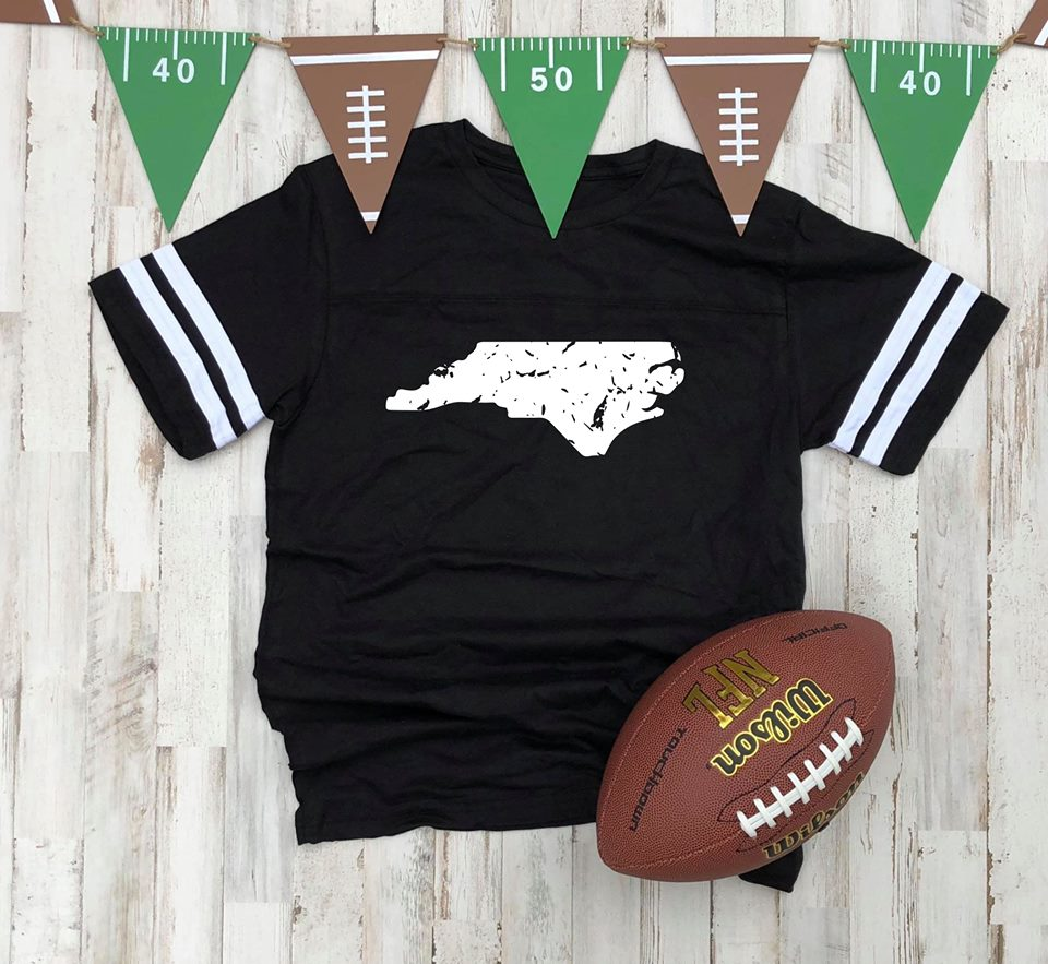 North Carolina Black Jersey Tee